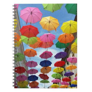Caderno Espiral Telhado dos guarda-chuvas