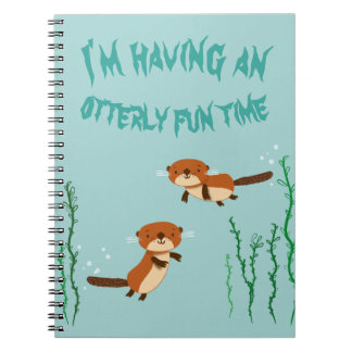 Caderno Espiral Tendo otterly uma estadia do divertimento