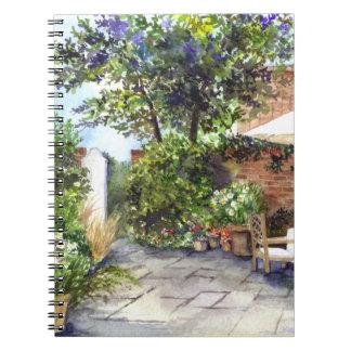 Caderno Espiral Terraço da casa senhorial, York