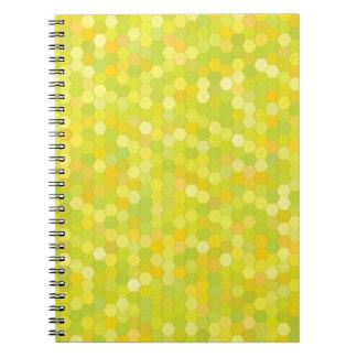 Caderno Espiral teste padrão amarelo