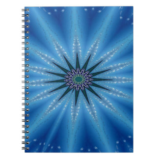 Caderno Espiral Teste padrão artístico Funky legal de Starburst