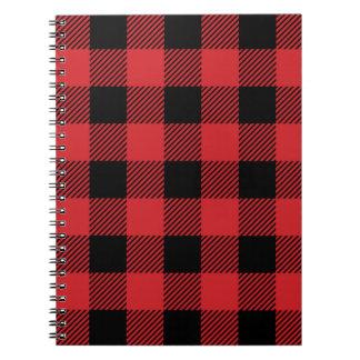 Caderno Espiral Teste padrão clássico da xadrez da verificação do