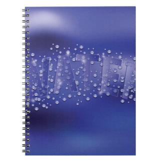Caderno Espiral teste padrão da água