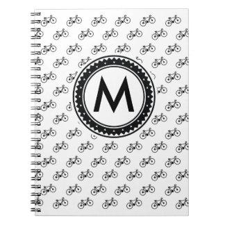Caderno Espiral Teste padrão da bicicleta