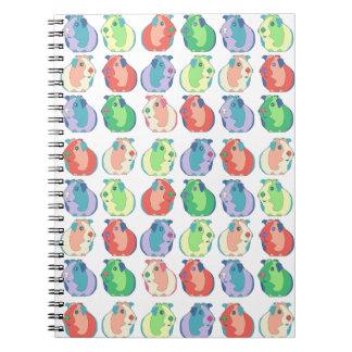Caderno Espiral Teste padrão da cobaia do pop art