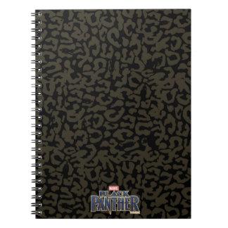 Caderno Espiral Teste padrão da pantera da pantera preta | Erik
