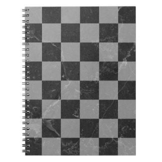 Caderno Espiral Teste padrão da xadrez
