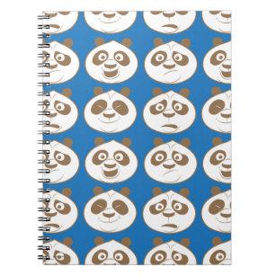 Caderno Espiral Teste padrão do azul do sibilo do Po