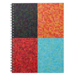 Caderno Espiral teste padrão do hexágono