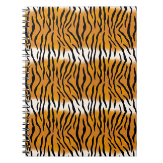 Caderno Espiral Teste padrão do tigre