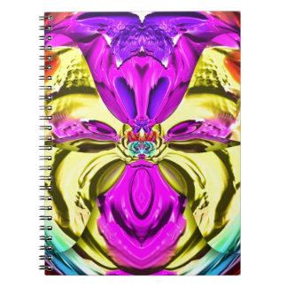 Caderno Espiral Teste padrão florescente legal do abstrato do