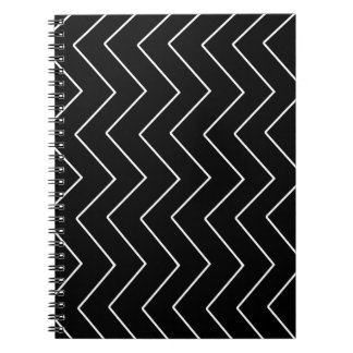 Caderno Espiral Teste padrão geométrico abstrato - preto e branco.