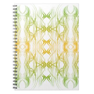 Caderno Espiral Teste padrão moderno