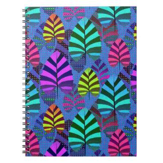 Caderno Espiral Teste padrão moderno brilhante 437 da folha