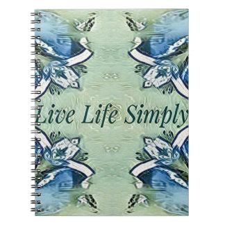 Caderno Espiral Teste padrão moderno da vida positiva artística do