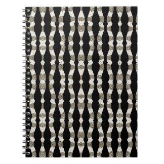 Caderno Espiral Teste padrão ondulado das listras