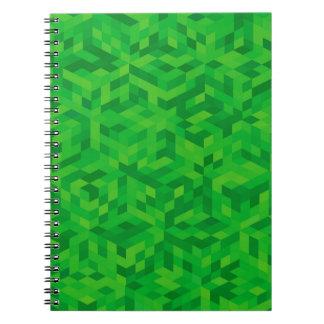 Caderno Espiral teste padrão verde