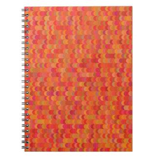 Caderno Espiral teste padrão vermelho