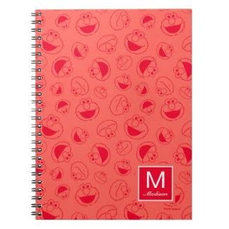 Caderno Espiral Teste padrão vermelho impressionante de Elmo |