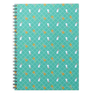 Caderno Espiral Testes padrões da garrafa & do chocalho da cerceta