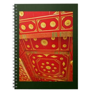 Caderno Espiral Teto tailandês do pavilhão