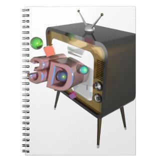 Caderno Espiral tevê 3D