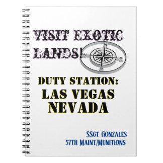 Caderno Espiral Texto conhecido de Las Vegas nanovolt da cidade da