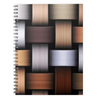 Caderno Espiral Textura da malha de Brown