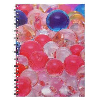 Caderno Espiral textura das bolas da água