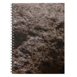 Caderno Espiral textura pitted da rocha
