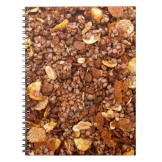 Caderno Espiral Textura torrada de Muesli