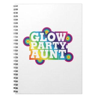 Caderno Espiral Tia Engraçado Presente da festa de aniversário do