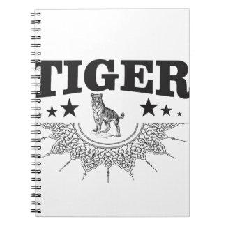 Caderno Espiral tigre feliz