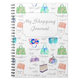 Caderno Espiral Tipografia floral Pastel das ilustrações da