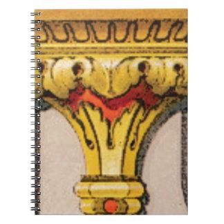 Caderno Espiral tocha dourada da glória