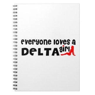Caderno Espiral Todos ama uma menina do delta