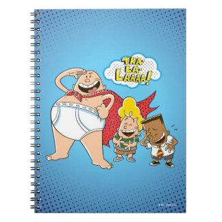 Caderno Espiral Tra-La-Laaaa do capitão Cuecas |!