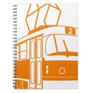 Caderno Espiral Transporte do bonde elétrico