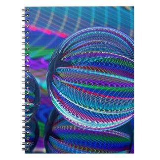 Caderno Espiral Três bolas de vidro na cor
