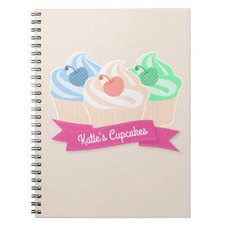 Caderno Espiral Trio doce do cupcake