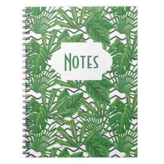 Caderno espiral tropical do ziguezague | da folha