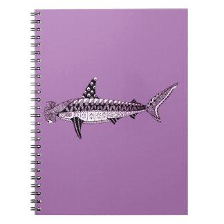 Caderno Espiral Tubarão de Hammerhead