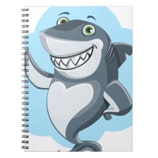 Caderno Espiral Tubarão legal