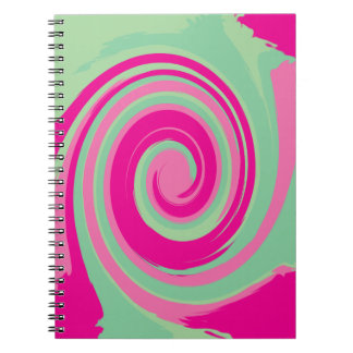 Caderno Espiral Twirl verde magenta cor-de-rosa verde e da hortelã