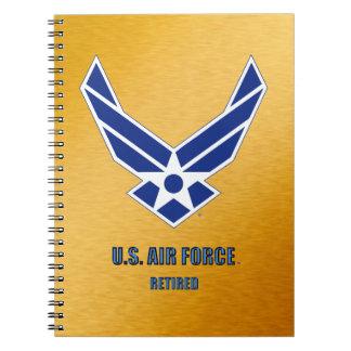 Caderno Espiral U.S. Jornal aposentado força aérea