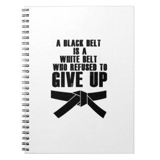 Caderno Espiral Um cinturão negro é um karaté branco Tae Kwon da