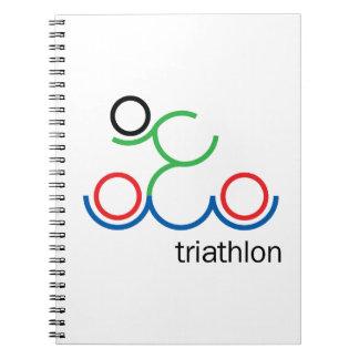 Caderno Espiral Um grande presente do Triathlon para sua amigo ou