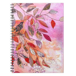 Caderno Espiral um ramo muito cor-de-rosa