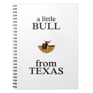 Caderno Espiral Uma Bull pequena de Texas