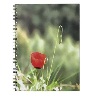 Caderno Espiral Uma papoila